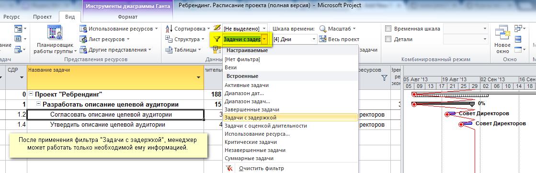 Задачи с задержкой: что это и как найти? Microsoft Project Трюки