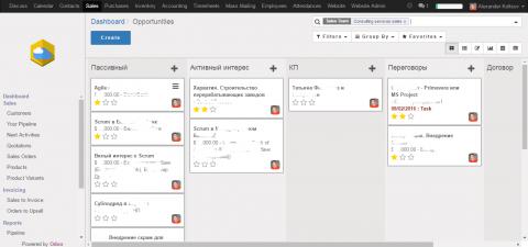 Odoo (OpenERP) платформа для управления предприятием